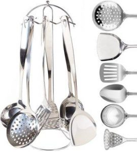 Neet 7 Piece Stainless Steel Cooking & Serving Utensil Set