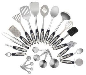 Stainless Steel Kitchen Utensil Set, 23-Pc Set