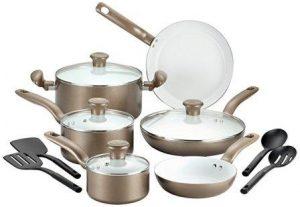 T-fal C728SE Initiatives Nonstick Ceramic Coating Cookware Set