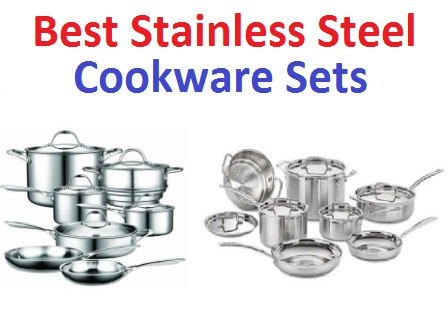 top 15 best stainless steel cookware sets in 2018. Black Bedroom Furniture Sets. Home Design Ideas