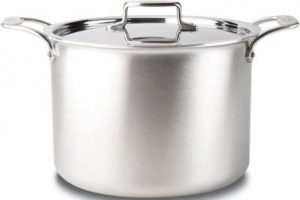 All-Clad BD55512 D5 Stainless Steel 5-Ply Bonded Dishwasher Safe Stock Pot