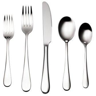 Bruntmor, ALBA Silverware Royal 45 Piece Flatware Cutlery Set