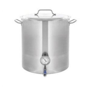 CONCORD Stainless Steel Home Brew Kettle Stock Pot(Weldless Fittings) (100 QT/ 25 Gal)