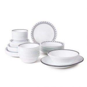 Corelle Livingware 76-Piece Dinnerware Set, Service for 12, City Block