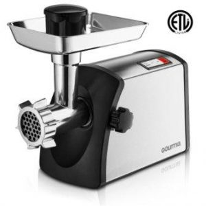 Gourmia GMG7500 Prime Plus Stainless Steel Electric Meat Grinder