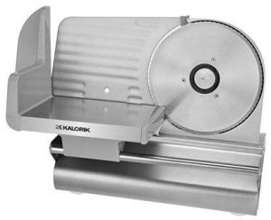 Kalorik 200-Watt Electric Meat Slicer with 7.5″ Blade, Silver