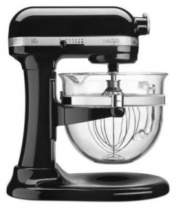 KitchenAid KF26M22OB 6-Qt. Professional 600 Design Series with Glass Bowl – Onyx Black