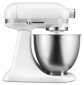 KitchenAid KSM3311XFW Artisan Mini Series Tilt-Head Stand Mixer, 3.5-Quart, Matte White
