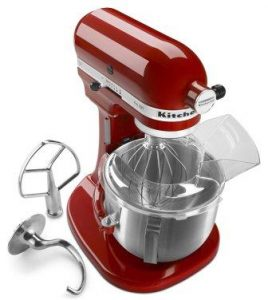 KitchenAid KSM500PSER Pro 500 Series 10-Speed 5-Quart Stand Mixer, Empire Red