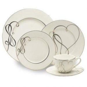Mikasa Love Story 40-Piece Dinnerware Set, Service for 8