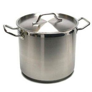 New Professional Commercial Grade 40 QT (Quart) Heavy Gauge Stainless Steel Stock Pot