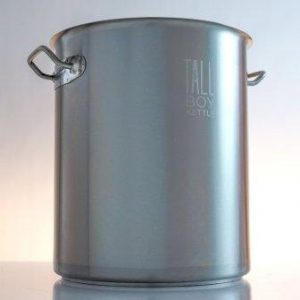 Tall Boy Home Brewing Kettle Stainless Steel Stock Pot – 10 Gallon Capacity – 40 Quart