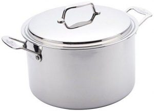 USA Pan Cookware 5-Ply Stainless Steel 8 Quart Stock Pot