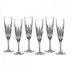 Waterford Lismore Diamond Flute, Set OF 6
