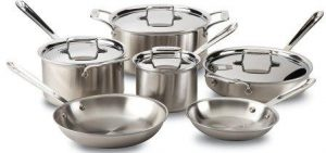 All Clad Stainless Steel Try-Ply Cookware Set