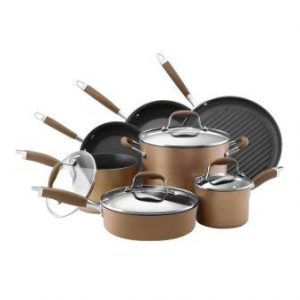 Anolon Advanced Bronze Hard Anodized Nonstick Cookware Set