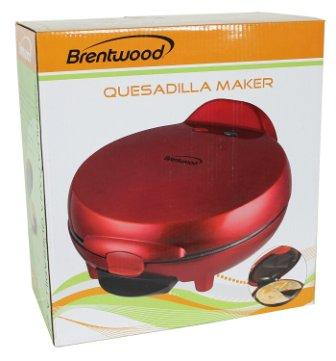Brentwood TS-120 Appliances Quesadilla Maker, Red