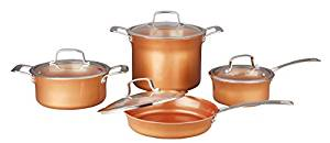 Concord 8 piece ceramic coated -copper- cookware