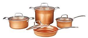 Concord 8 piece ceramic coated -copper- cookware