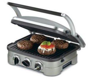 Cuisinart GR-4N 5-in-1 Griddler, Silver, Black Dials (Top Pick)