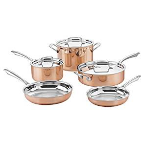Cuisinart ctpp-8 collection cookware set, medium, copper