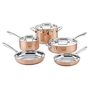 Cuisinart ctpp-8 collection cookware set, medium, copper