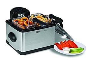 Elite Platinum Maxi-Matic Triple Basket 4-Quart Electric Deep Fryer