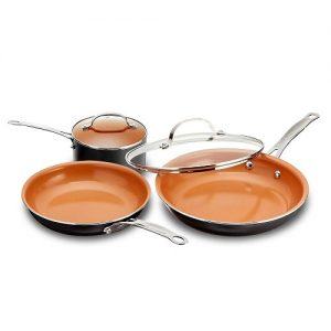 Gotham steel 5 piece kitchen essentials cookware set