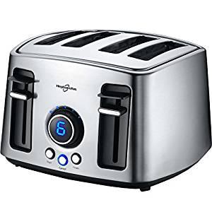 Hephaestus 4 Slice Bagel Toaster Extra Wide Slot