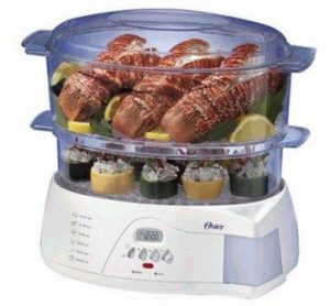 Oster 5712 Electronic 2-Tier 6.1 Quart Food Steamer