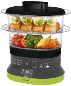 T-fal VC1338 Balanced Living Compact 2-Tier Electric Food Steamer