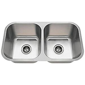With An 3218A 18 Gauge Undermount Equal Double Bowl Stainless Steel Kitchen  Sink