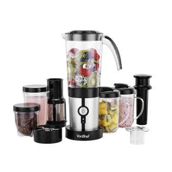 VonShef 220 240 Volts Blender, Smoothie Maker, Grinder, Juicer 4 in 1 Blender