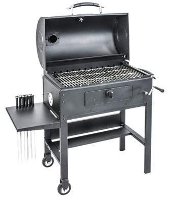 Blackstone 3-in-1 Kabob Charcoal Grill – Barbecue – Smoker