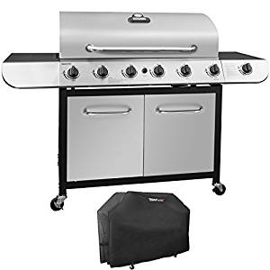 Royal Gourmet Classic Stainless Steel 6-Burner Cabinet Gas Grill