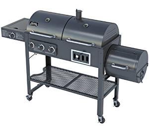 Smoke Hollow 1800cgs Gas Charcoal Smoker Grill With Side Burner
