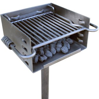 Heavy Duty Park Style Charcoal Grill