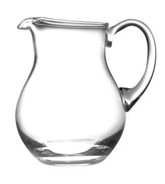 Barski Handmade Round Glass Pitcher