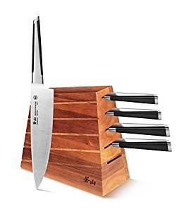 Cangshan X Series 59915 6-Piece German Steel Forged Knife Block Set