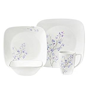Corelle Square 32-Piece Dinnerware Set, Splendor, Service for 8
