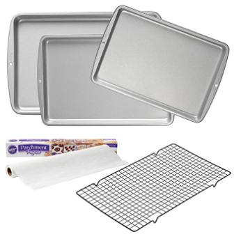 Wilton Supplies 5-Piece Essential Cookie Sheet