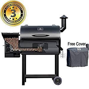 Z GRILLS Wood Pellet Grill 7-in-1 BBQ Smoker