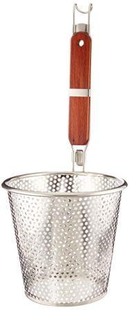 ExcelSteel Pasta Basket, 6-1/4″, Stainless Steel