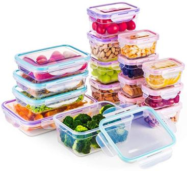 (16-Pack) Food Storage Containers with Lids by Bayco