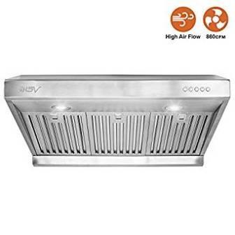 BV Range Hood – 30 Inch 860 CFM Under Cabinet Stainless Steel Kitchen Range Hoods