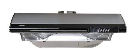 "Chef Range Hood C190 30"" Slim Under Cabinet Kitchen Extractor | Modern Stainless Steel Electric Range Hood"