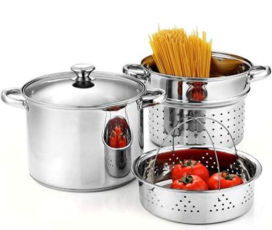 Cook N Home Stainless Steel Pasta Pot