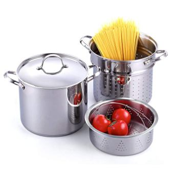 Cooks Standard Pasta Pot Cooker Steamer Multipots