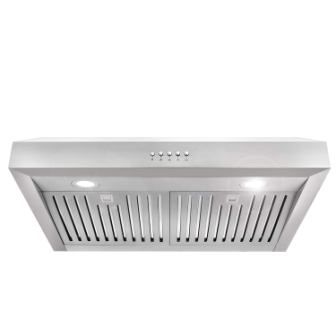 Cosmo UC30 30-in Under-Cabinet Range Hood 760-CFM with Ducted / Ductless Convertible Duct, Kitchen over Stove Vent Light