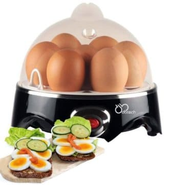 DBTech Automatic Shut-off Electric Egg Cooker, Black